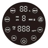 24 Home Air Purifier ADA623 Electronic Panel