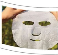09 Airlaid Paper Food Grade Emulsion Glued Dust Free Paper Application Facial Mask