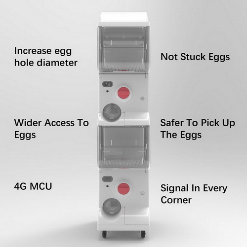 17 Capsule Gashapon Machines Ours Increase Egg Hole Diameter Not Stuck Eggs Wider Access to Eggs Safer to Pick up Eggs 4G MCU Signal in Every Corner