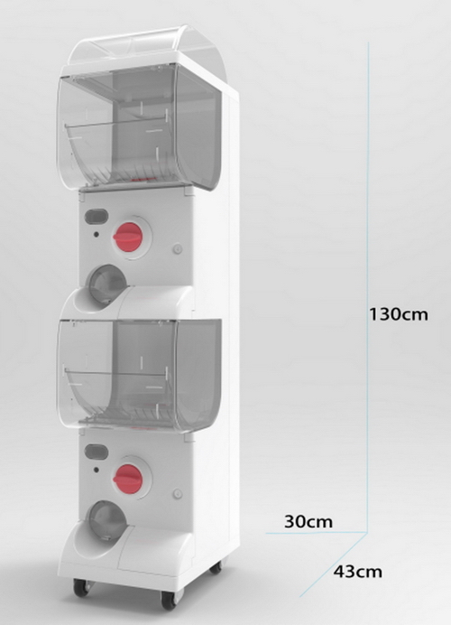 27 Capsule Machines Gashapon Machines Sizes H130cmD43cmW30cm