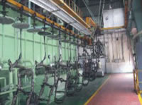 Automatic Spray Coating Production Line, Motorcycle Painting Line
