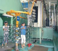 Automatic Spray Coating Production Line, Pretreatment Area
