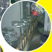 Small Painting Production Line, Electrostatic Dust Removal Area