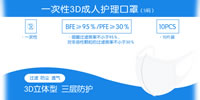 03 Disposable 3D Adult Care Mask S Size XCT010 B