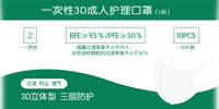 05 Disposable 3D Adult Care Mask L Size XCL010 B