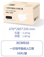 08 Disposable Flat Adult Care Mask XCW010 C
