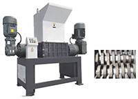 42 Double Shaft Shredder to Crush Plastics Rubber Fiber Paper Large Hollow Materials Various Mixed Waste Materials