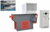 43 Single Shaft Shredder to Crush Tough or Medium Hard Materials Films Plastics Bottles Thick Walled Pipes Pallets Turnover Boxes
