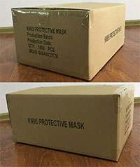 08 KN95 Civil Protective Mask Carton 1000pcs 64x44x29cm 1