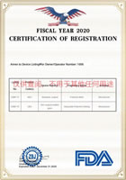 12 FDA Certification of Registration 2020 KN95 Civil Protective Mask 22