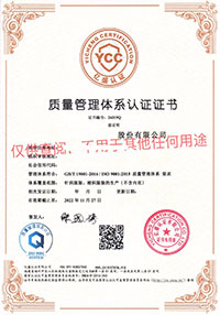 15 Quality Management System Certificate GB T 19001 2016 ISO 9001 2015