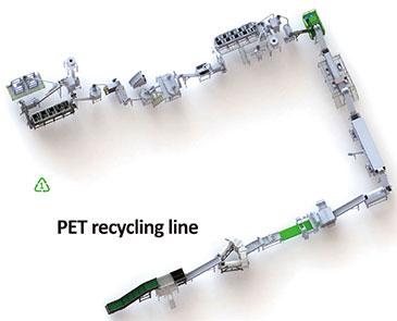 19 PET Recycling Line Workshop Layout