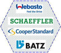 21 Plastics Welding Solutions Customers on Automotive Car Manufacturing Others Webasto SCHAEFFLER CooperStandard BATZ