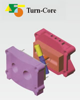 Bi-Colors Injection Machine, Turn Core Type