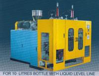Automatic Plastics Extrusion Blow Molding (EBM) Machine, For 10L Bottle, Transparent Liquid Level Line