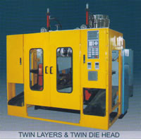 Automatic Plastics Extrusion Blow Molding (EBM) Machine, Twin Layers, Twin Diehead