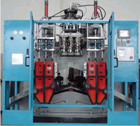 Continuous Type Plastics Extrusion Blow Molding (EBM) Machine SJY852, For Bottles Containers